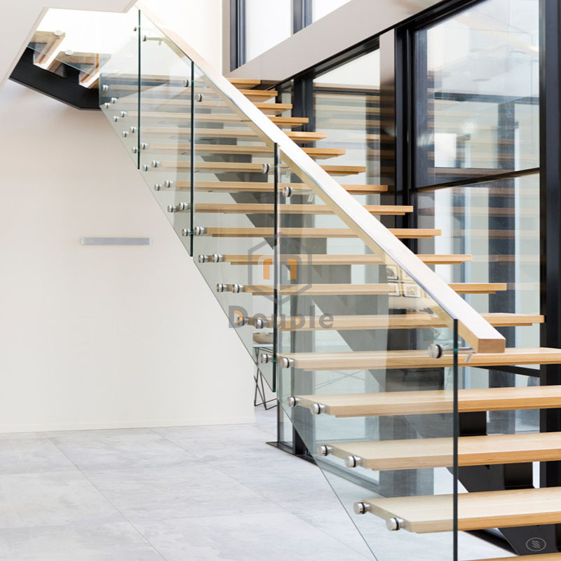 Customized Staircase Glass Railing Wood Stairs Design Buy Wood