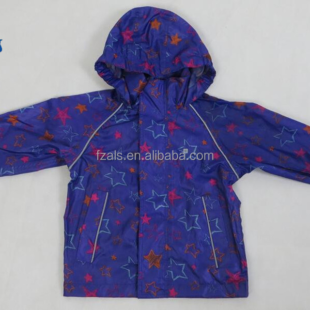 Custom Polyester Kids Waterproof Rain Coats