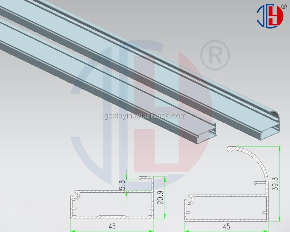Pull Handle Edge Banding Frame Aluminum 6063 Series Alloy Profiles For Kitchen Cabinet Door