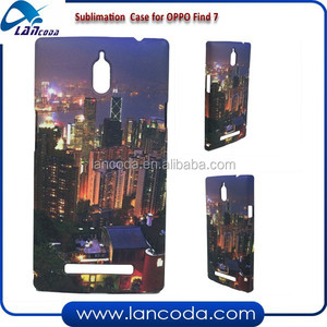 Lancoda custom 3D sublimation phone cover for OPPO FIND7,sublimation mobile phone case,sublimation cell phone case