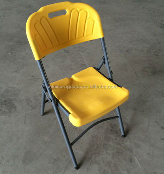 Steel HDPE cheap plastic folding Chair