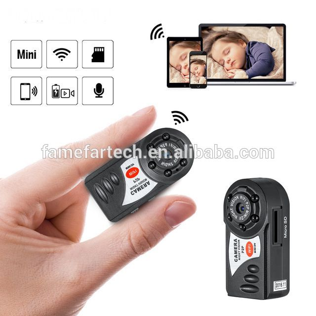 Mini Q7 WIFI P2P Surveillance DVR IOS Android night vision take real time video and photo wifi Remote Camera