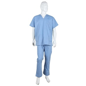 OEM Service Clinic Doctors Medical Scrubs Nurse Hospital V neck Uniform Designs for Cotton Fabric United States