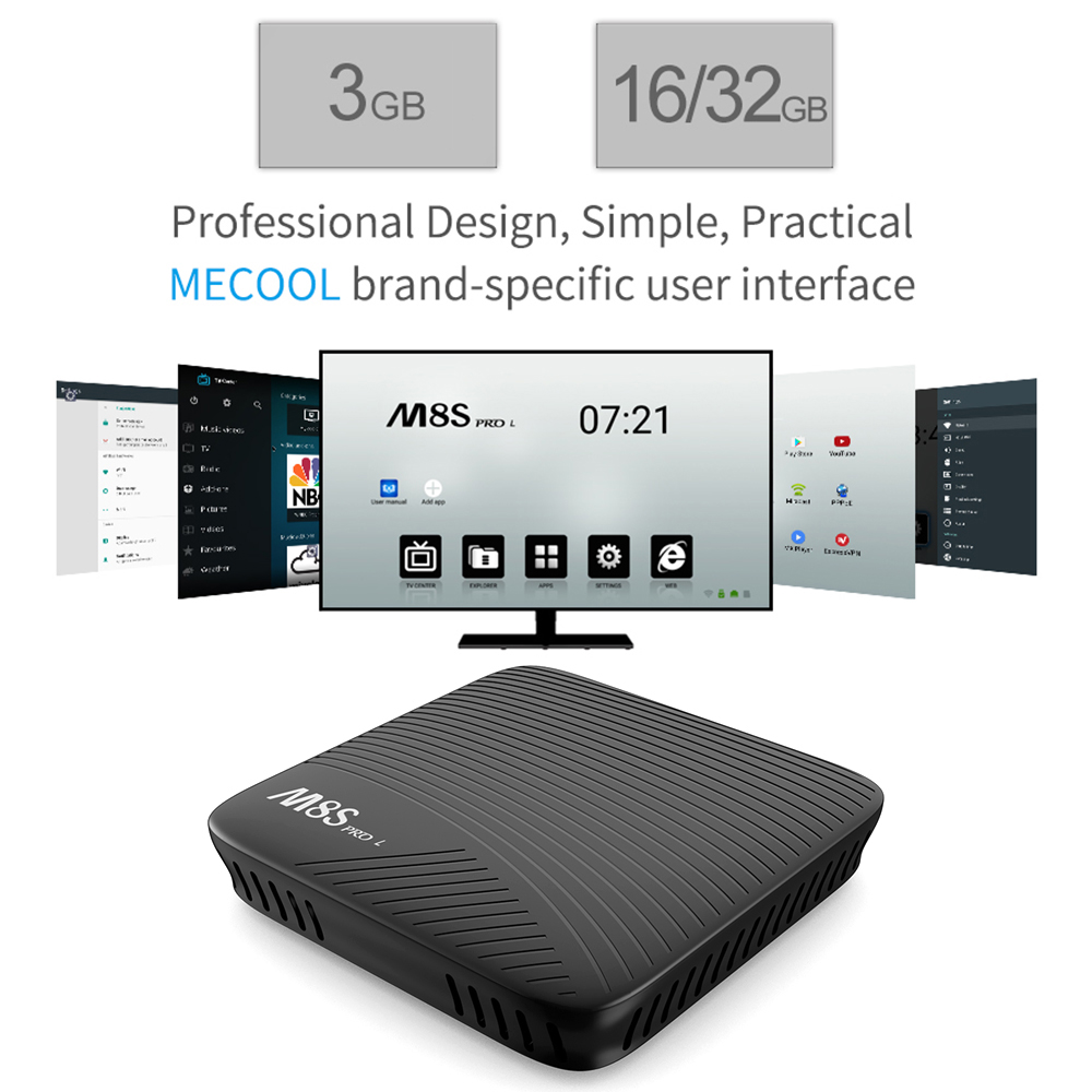 Mecool M8s Pro L 4k Tv Box Amlogic S912 Bt 4 1 + Hs - 3gb Ram + 16gb Rom  With Standard Remote Controller - Buy Tv Box M8s Pro L,Amlogic 912,Octa  Core