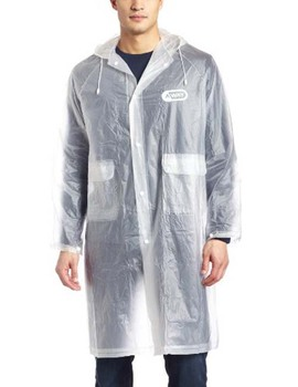 Fashion clear raincoat long eva material rain coat with pouch pocket