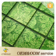 High quality 2016 glass mosaic wall decoration textured wall kitchen bathroom refresh green design mosaic swim pool mosaic tile