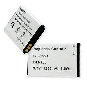 Empire quality replacement for Contour CT3650, GPS, HD, HD1080P, HD1200, HD1300, HD1500, HD1600, HD2035, HD2350, HD2450, HD2900, HD3200, HD3300, HD720P, C01041K, CONTOUR +2, 1250mAh, 3.7v, Li-ion