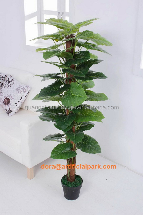 Sjh1410420 plantas artificiales baratas gran hoja verde - Plantas artificiales baratas ...