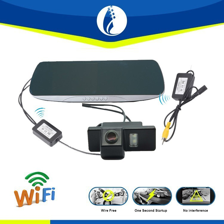 WiFi GPS Navigation Waterproof Universal Car Camera Reserving Mirror Monitor