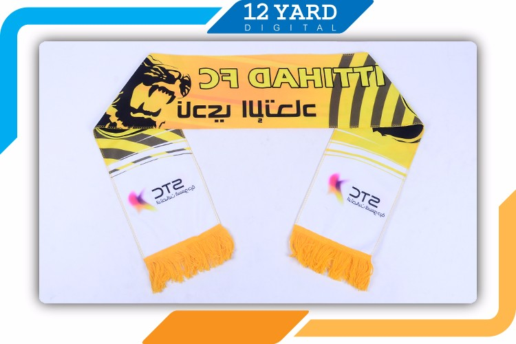 Cheap Top Quality Sport Fan Flag Scarves Printed Type Custom Design Football Knitted Sport Scarf