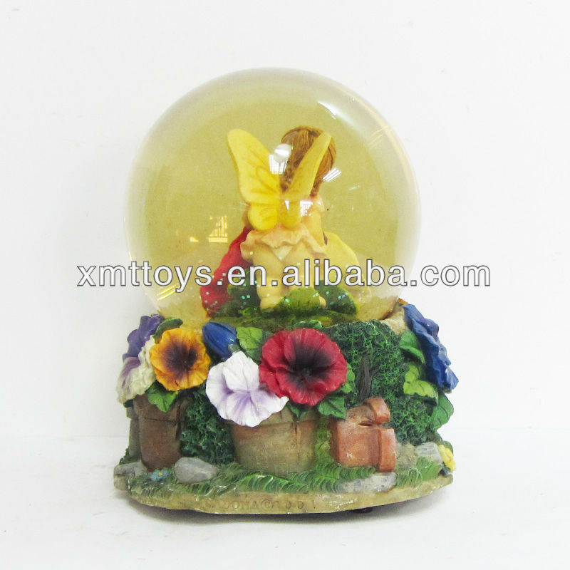 Custom Resin Ballet Girl Snow Globe For Dancing