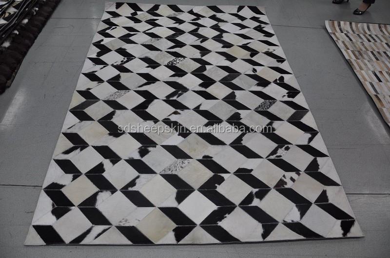 Patchwork piel de vaca alfombra alfombra piel de vaca - Alfombras de cebra ...