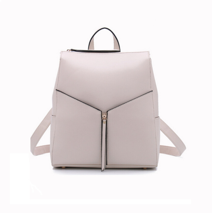 2017 White Leather Backpack Women Cowhide Cool Backpacks Designer Brand Las Office Bag Cute School Bags For Agers In Price On