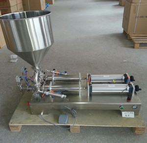 304 or 316SUS semi automatic sauce honey cosmetic cream filler pneumatic piston cream filler for small business