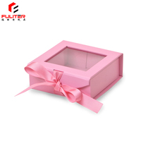 Small Cute Elegant Jewelry Gift Packaging Paper Box with PVC Window Gift Box Packaging Luxury
