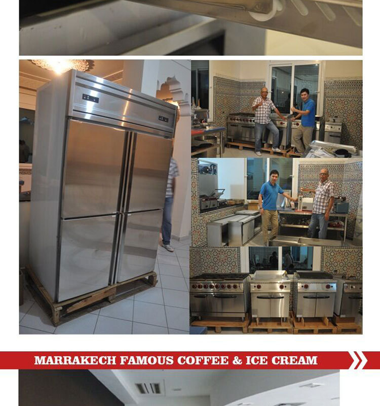 Ice Cream Shop Kitchen Equipment,The Project For SHINELONG IN MORROCO