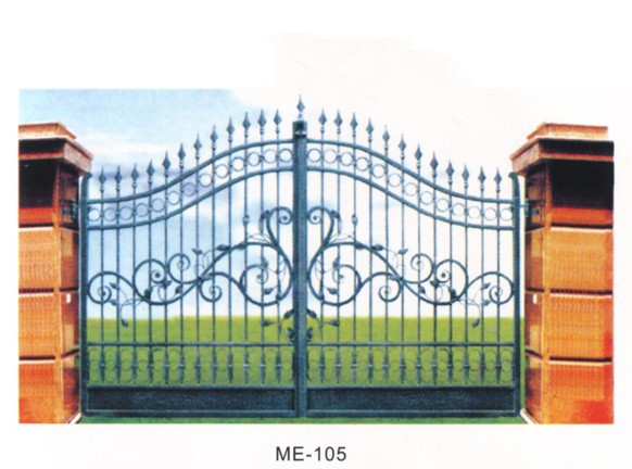 Gate-001 Beautiful Residential Wrought Iron Gate Design Models ...
