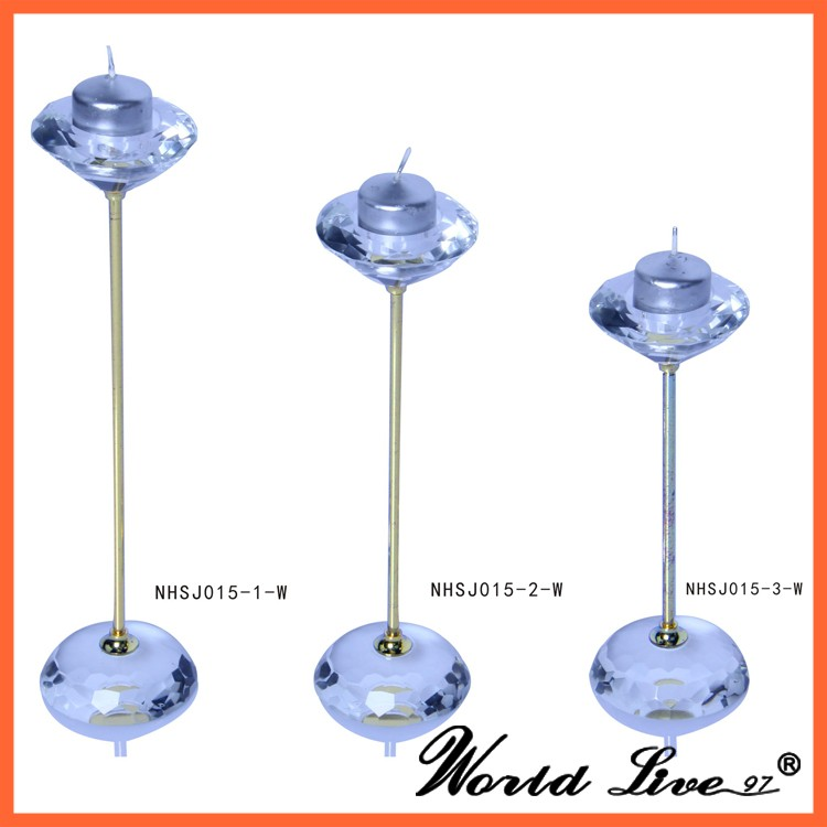 Wholesale crystal tall candle holders for weddings buy for Cheap tall candlestick holders