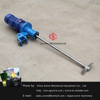 0.75kw paint and inks manual disperser dissolver mixer agitator