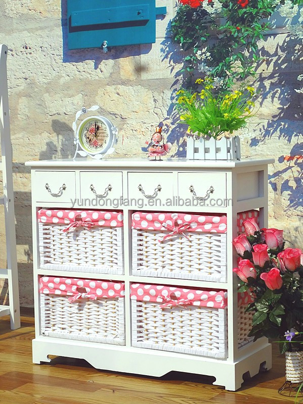 Hot sale living room small space Wooden decoration chest of drawer