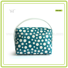 Fashional Popular Custom Cute Dot Design Hand Carry Toiletry Bag