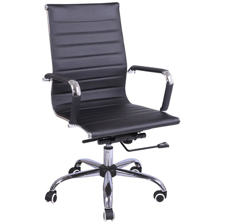 Leather Chair Swivel Chair,Ergonomics Pu Chair With Armrest,Moving ...