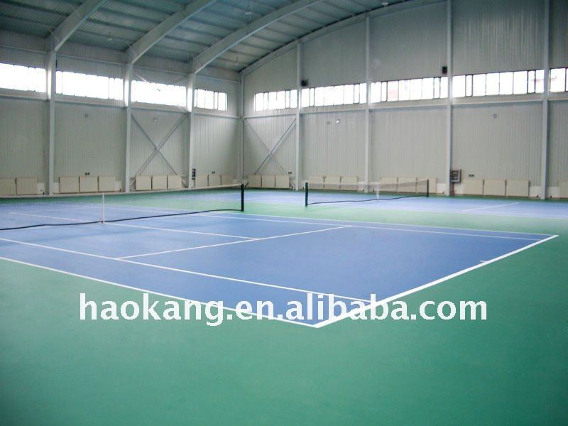 Blue fireproof Tennis Court PVC Floor Covering