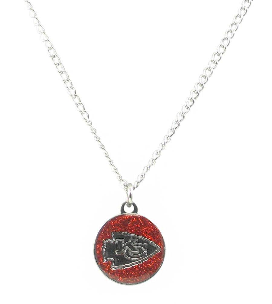 Get Quotations · Kansas City Chiefs - NFL Glitter Logo Necklace 35f1f496e