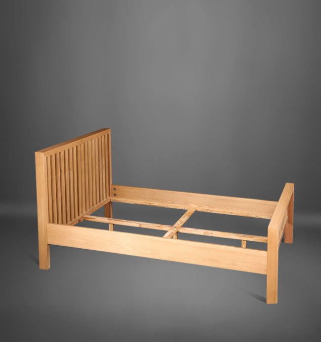 Wooden Bedroom Furniture Solid Wood Adult Single Bed