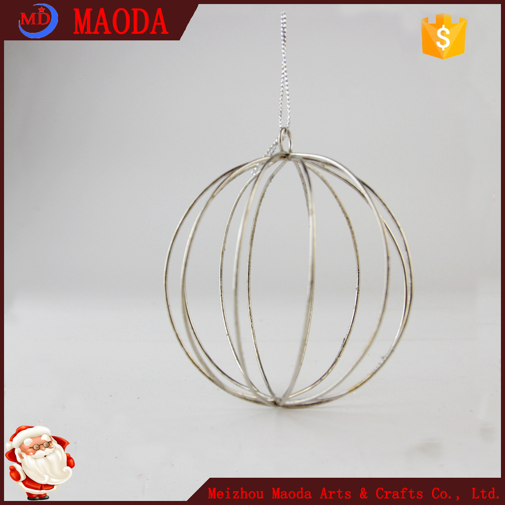 2017 the latest 8CM new design silver line frame ball ornaments for party