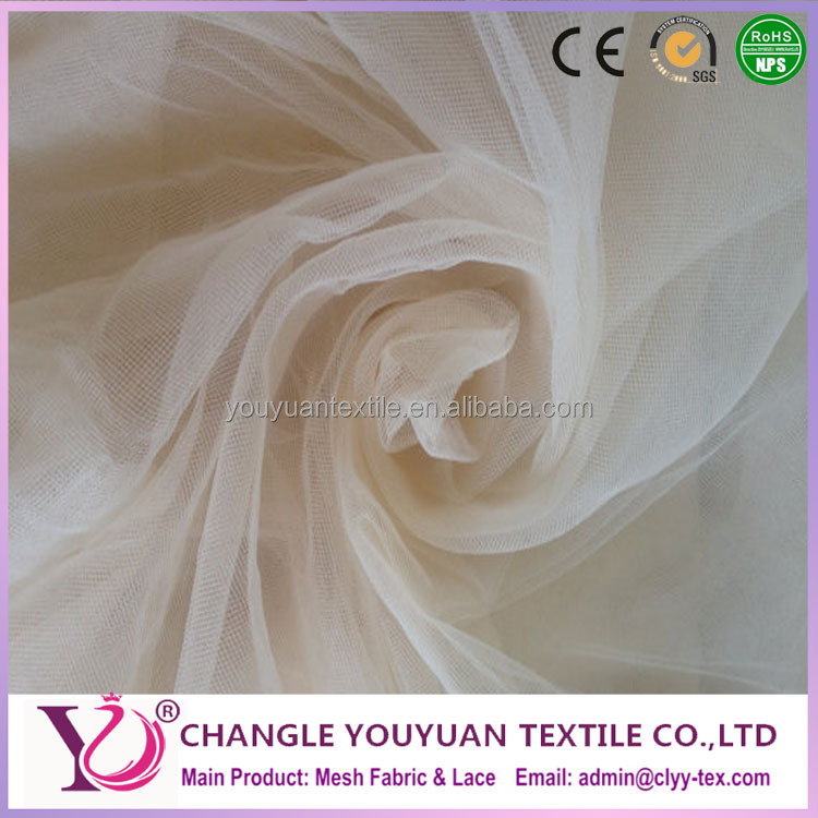 Eco-friendly feature and type high quality net tulle mesh fabric