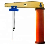 1 ton movable and oportable cantilever swing arm jib crane tower crane