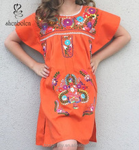 Hot sales!Mexican embroidered dresses wholesale M40642