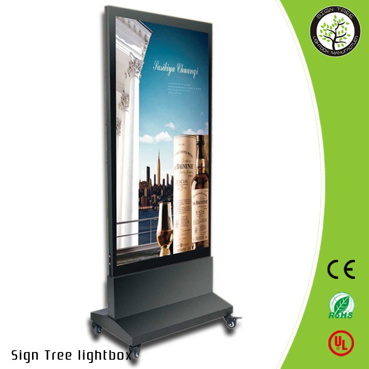 Outdoor Free standing Double sided Acrylic panel display light box