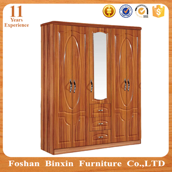 Simple Bedroom Wardrobes simple design 5 door mdf bedroom wardrobe design with pattern