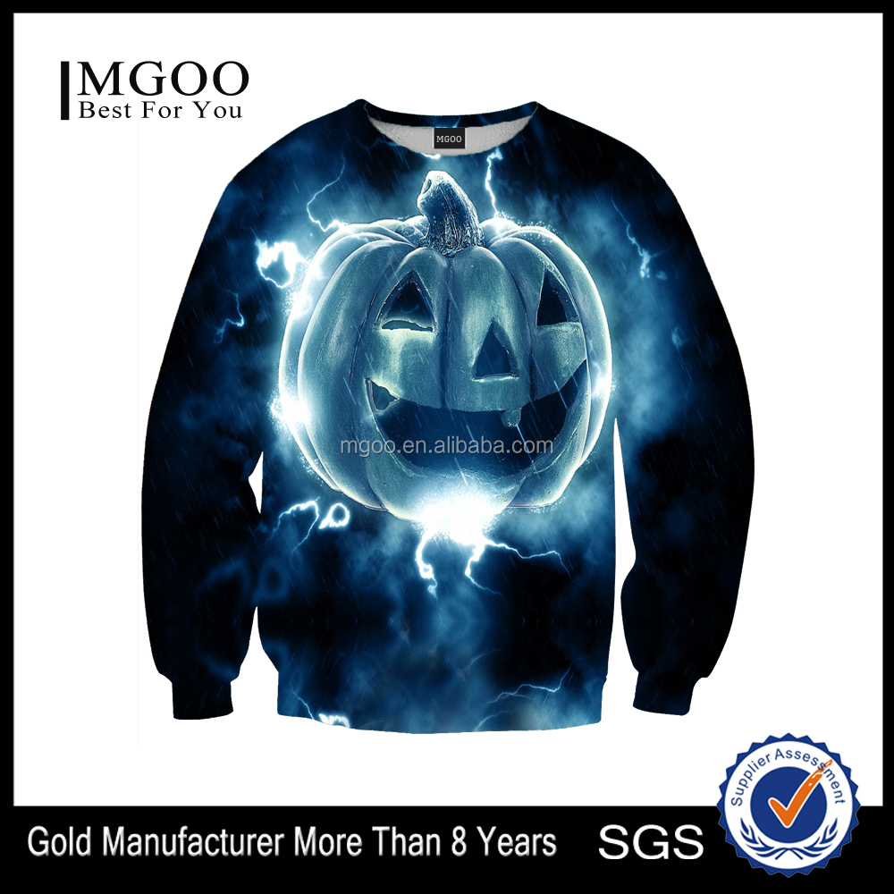 Custom Design Men Sweatshirt Digital Print Halloween Holiday Overzied Full Print Male Sweat Shirt Wholesale Price