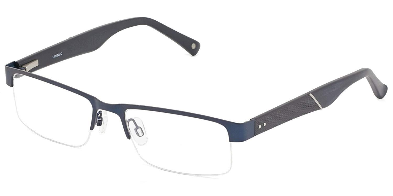 c6dc34b5de umizato Prescription Glasses Designer Frames for Men - Handcrafted Semi- Rimless Fashion Eyeglasses - Optical