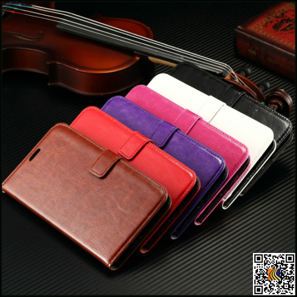 Crazy Horse grain leather phone case for Nokia N640