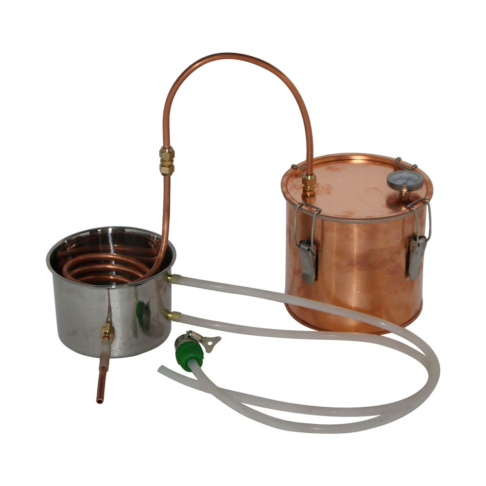 New 6L/1.5Gal Home copper still Mini water distiller