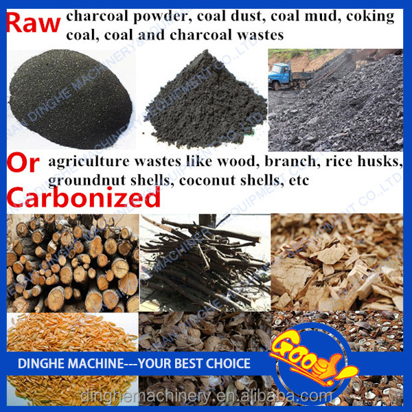 China Coal Charcoal Dust Powder Briquette Press Making ...