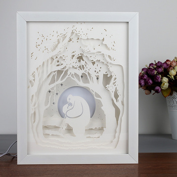 Art 3d Stereo Picture Frame White Shadow Box Frames Wholesale With ...
