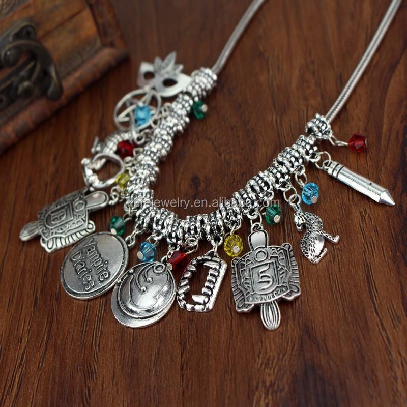 The Vampire Diaries Diy Charms Necklace Elena Gilbert Vintage Vervain  Verbena Pendant Photo Locket Jewelry For Women Best Gift - Buy Vampire  Diaries
