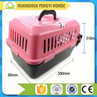 No Recycled Materials Colorful Unique Garden House Transport Plastic Pet Carrier