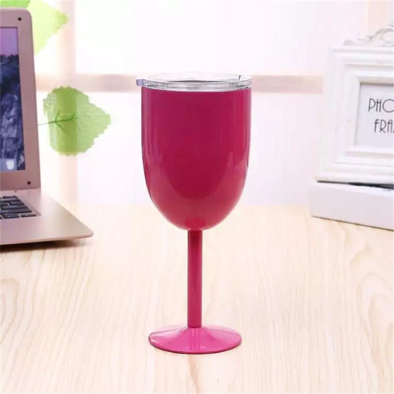 Simple Modern Spirit 12oz Wine Tumbler Glasses with Lid - Vacuum Insulated Stemmed Double Wall - 18/8 Stainless Steel