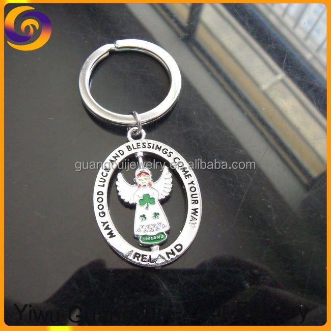 Ireland May good luck and blessings come your way angel keychain