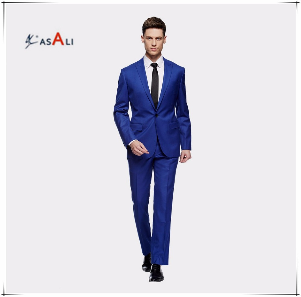 2016 Fashion Tailor Suits For Men,Royalblue Design Suits For Men