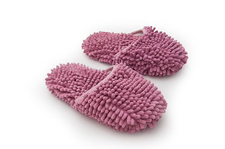 Comfortable microfiber chenille mop slippers