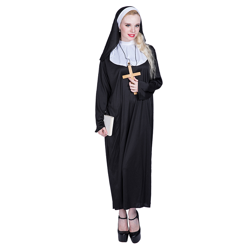 Hot Sale Halloween sexy Nun Cosplay Costumes Adult Carnival Costume For Women