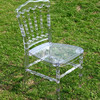 Hot sale Clear Resin Napoleon Chair at wedding