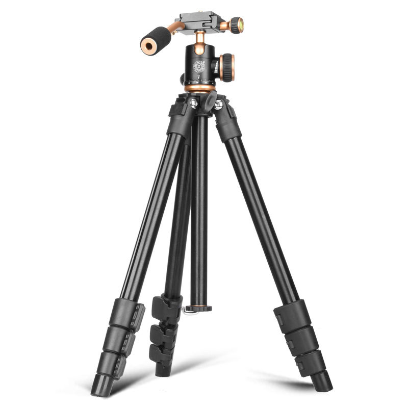 Color : Photo Color, Size : One Size Sunsamy Portable Tripod 4-Sections Lightweight 0.93kg Portable Aluminum Tripod for DSLR Camera Digital Camcorder